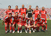 06 June 2009: The Toronto FC starting eleven in  MLS action at BMO Field Toronto, in a game between LA Galaxy and Toronto FC. .The Galaxy  won 2-1.