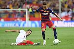 FC Barcelona's Neymar Junior (R) and Sevilla CF's Vitolo (L)  during Spanish Kings Cup Final match. May 22,2016. (ALTERPHOTOS/Rodrigo Jimenez)
