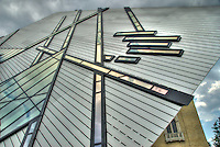 Low-angle view of The Crystal addition to the Royal Ontario Museum, Toronto, Canada