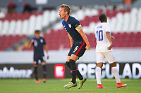 GUADALAJARA, MEXICO - MARCH 28: Jackson Yueill #6 of the United States celebrating his goal during a game between Honduras and USMNT U-23 at Estadio Jalisco on March 28, 2021 in Guadalajara, Mexico.