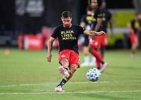 LAKE BUENA VISTA, FL - JULY 26: Pablo Piatti of Toronto FC warms up during a game between New York City FC and Toronto FC at ESPN Wide World of Sports on July 26, 2020 in Lake Buena Vista, Florida.