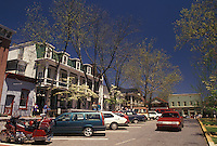 Dahlonega, Georgia, GA, Gifts shops on the Public Square in Dahlonega in the spring.