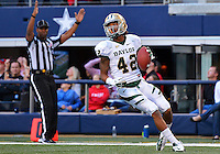 Baylor inside receiver LEVI NORWOOD (42) rushes in the end zone for a touch down during NCAA Football game at Cowboys Stadium in Arlington, Texas. Baylor defeats Texas Tech 52-45 in over time..