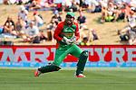 Bangaleshi keeper Mushfiqur Rahim can't quite reach Gardiner's leg glance. ICC Cricket World Cup 2015, Bangladesh v Scotland, 5 March 2015,  Saxton Oval, Nelson, New Zealand, <br /> Photo: Marc Palmano/shuttersport.co.nz