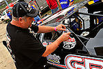Sep 9, 2011; 11:25:29 AM; Rossburg, OH., USA; The 41st annual running of the World 100 Dirt Late Models racing for the Globe trophy at the Eldora Speedway.  Mandatory Credit: (thesportswire.net)