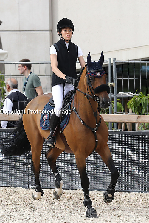 --- NO TABLOIDS NO SITE --- Charlotte Casiraghi participates in the Special Invitational 1,15m competition during the Longines Global Champions Tour of Monaco.