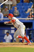 Clearwater Threshers second baseman Carlos Alonso #8 during a game against the Dunedin Blue Jays at Florida Auto Exchange Stadium on April 4, 2013 in Dunedin, Florida.  Dunedin defeated Clearwater 4-2.  (Mike Janes/Four Seam Images)