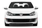 Straight front view of a 2013 Volkswagen GTI 4 Door hatchback2013 Volkswagen GTI 4 Door hatchback