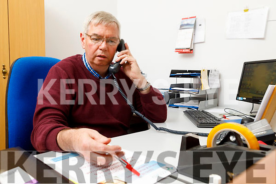 Jim O'Donnell manning the phones and the computer for the Accord Pre-marriage courses or marriage counselling in the St Johns Parish Centre in Tralee on Thursday.