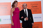 30.08.2012. Photocall guests and winners in the 'Ceres Theatre Awards 2012' in Merida (Extremadura). In the image Maria Castro and Pepe Viyuela (Alterphotos/Marta Gonzalez)