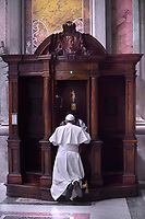 Pope Francis Confession penitential celebration in St. Peter's Basilica the Vatican, March 9,2018