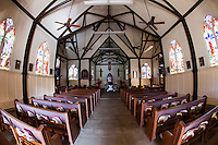The interior of Sacred Heart Church, Hawi, Big Island.