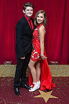 © Licensed to London News Pictures . 16/05/2015 .  The Palace Hotel , Manchester , UK . Ellis Hollins and Ruby O'Donnell . The red carpet at the 2015 British Soap Awards , The Palace Hotel , Oxford Road , Manchester . Photo credit : Joel Goodman/LNP