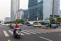 Suzhou, Jiangsu, China.  Dadaodong Street Traffic.