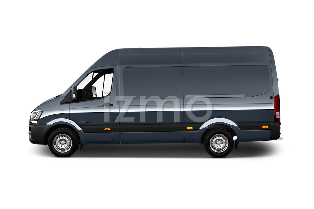 Car Driver side profile view of a 2015 Hyundai H350 Travel Plus Pack 4 Door Cargo Van 2WD Side View