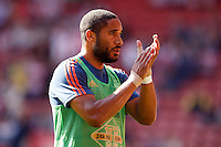 Ashley Williams applauds the traveling fans before the Barclays Premier League match between Southampton v Swansea City played at St Mary's Stadium, Southampton