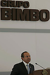 Mexican President Felipe Calderon addresses a speech during the inauguration of the new Bimbo bread-plant at Toluca City, September 14, 2007. Photo by Javier Rodriguez