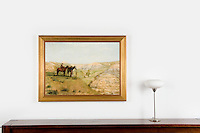 """Thomas Eakins 1888 Cowboys in the Badlands, <br /> Reference #<br /> 2648_2180_486287dp<br /> Framed Dims.36.5"""" x 48.5""""<br /> Image Dims.29"""" x 41""""<br /> Medium Digital Print <br /> This landscape was inspired by a ten-week trip Eakins made to the Dakota Badlands in the summer of 1887."""