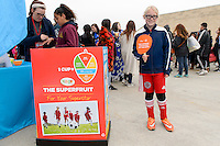 Bridgeview, IL, USA - Sunday, May 1, 2016: The National Mango Board promotes mangos before a regular season National Women's Soccer League match between the Chicago Red Stars and the Orlando Pride at Toyota Park. Chicago won 1-0.
