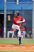 GCL Twins right fielder Daniel Palka (54) at bat during the first game of a doubleheader against the GCL Rays on July 18, 2017 at Charlotte Sports Park in Port Charlotte, Florida.  GCL Twins defeated the GCL Rays 11-5 in a continuation of a game that was suspended on July 17th at CenturyLink Sports Complex in Fort Myers, Florida due to inclement weather.  (Mike Janes/Four Seam Images)