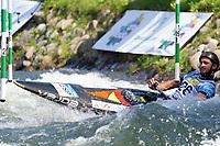 5th September 2021; Parc Olimpic del Segre, La Seu D'Urgell ICF Slalom World Cup, Men's Canoe Final; Luis Fernandez (ESP)
