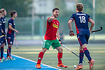 Mannheim, Germany, September 12: During the 1. Bundesliga men fieldhockey match between Mannheimer HC and Hamburger Polo Club on September 12, 2020 at Am Neckarkanal in Mannheim, Germany. Final score 2-0. (Copyright Dirk Markgraf / www.265-images.com) *** Kane Elliot Mark Russell #22 of Hamburger Polo Club