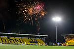 03.03.2021 Livingston v Rangers: Rangers fans set off a firework display during the match