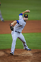 Salt River Rafters pitcher Chad Girodo (54) delivers a pitch during an Arizona Fall League game against the Mesa Solar Sox on October 23, 2015 at Sloan Park in Mesa, Arizona.  Salt River defeated Mesa 5-1.  (Mike Janes/Four Seam Images)