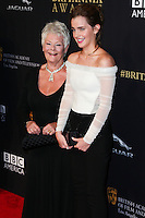 BEVERLY HILLS, CA, USA - OCTOBER 30: Judi Dench, Emma Watson arrive at the 2014 BAFTA Los Angeles Jaguar Britannia Awards Presented By BBC America And United Airlines held at The Beverly Hilton Hotel on October 30, 2014 in Beverly Hills, California, United States. (Photo by Xavier Collin/Celebrity Monitor)
