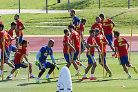 Spanish players during the second training of the concentration of Spanish football team at Ciudad del Futbol de Las Rozas before the qualifying for the Russia world cup in 2017 August 30, 2016. (ALTERPHOTOS/Rodrigo Jimenez) /NORTEPHOTO
