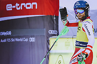 22nd December 2020, Madonna di Campiglio, Italy; FIS Mens slalom world cup race;  Marco Schwarz of Austria reacts after his 2nd run of mens Slalom