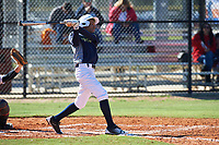 Jayden Smith (6) of Canton, Michigan during the Baseball Factory All-America Pre-Season Rookie Tournament, powered by Under Armour, on January 14, 2018 at Lake Myrtle Sports Complex in Auburndale, Florida.  (Michael Johnson/Four Seam Images)