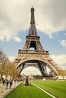 Eiffel Tower, Paris, France, landmark. Paris, France.