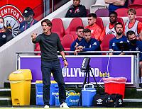 11th September 2021; Brentford Community Stadium, London, England;  Premier League football, Brentford versus Brighton Athletic; Thomas Frank Manager of Brentford gestures to his team
