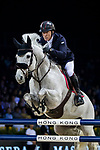 Michael Whitaker of Great Britain riding Valentin R competes in the Maserati Masters Power during the Longines Masters of Hong Kong at AsiaWorld-Expo on 10 February 2018, in Hong Kong, Hong Kong. Photo by Ian Walton / Power Sport Images