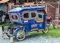 Peru, Ollantaytambo.  Three-wheeled Taxi.