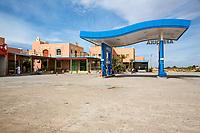 Tinejdad, Morocco.  Gas Station.