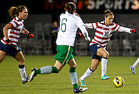 Carli Lloyd controls the ball in the second half. USWNT played played a friendly against Ireland at JELD-WEN Field in Portland, Oregon on November 28, 2012.