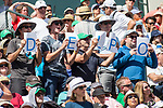 March 18, 2018: Fans watch Juan Martin Del Potro (ARG) defeat Roger Federer (SUI) 6-4, 6-7(8), 7-6(2) in the Finals of the BNP Paribas Open at the Indian Wells Tennis Garden in Indian Wells, California. ©Mal Taam/TennisClix/CSM