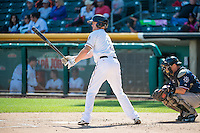 Ryan Jackson (5) of the Salt Lake Bees at bat against the Reno Aces in Pacific Coast League action at Smith's Ballpark on May 10, 2015 in Salt Lake City, Utah.  Reno defeated Salt Lake 11-2 in Game Two of the double-header. (Stephen Smith/Four Seam Images)