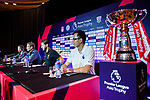 Liverpool FC head coach Jurgen Klopp (C) speaks to the media during a Premier League Asia Trophy Press Conference at Grand Hyatt Hotel on July 21, 2017 in Hong Kong, China. Photo by Marcio Rodrigo Machado / Power Sport Images