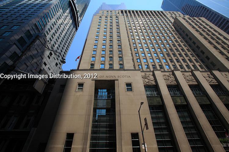 Toronto (ON) CANADA - July 2012 - Bay Street Financial District  Bank of Nova Scotia