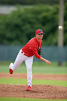 GCL Phillies West pitcher Fernando Lozano (51) during a Gulf Coast League game against the GCL Tigers West on July 27, 2019 at the Carpenter Complex in Clearwater, Florida.  (Mike Janes/Four Seam Images)