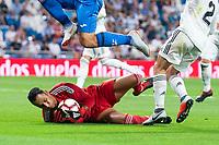 Real Madrid Keylor Navas during La Liga match between Real Madrid and Getafe CF at Santiago Bernabeu in Madrid, Spain. August 19, 2018.  *** Local Caption *** © pixathlon<br /> Contact: +49-40-22 63 02 60 , info@pixathlon.de