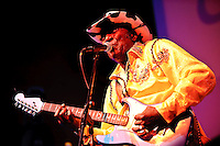 """Eddy """"The Chief"""" Clearwater in concert at Voodoo Lounge of Harrah's Casino in St. Louis, MO on Sept 24, 2009."""