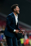 Coach Diego Simeone of Atletico de Madrid reacts during their International Champions Cup Europe 2018 match between Atletico de Madrid and FC Internazionale at Wanda Metropolitano on 11 August 2018, in Madrid, Spain. Photo by Diego Souto / Power Sport Images
