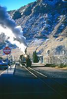 SOURCES OF STEAM<br /> Steam Locomotive Of A Train.<br />  Durango, CO.
