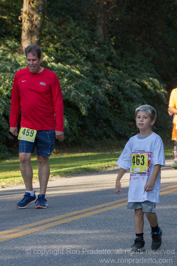The 2017 Barnesville Pumpkin Festival 5K walk/run, Barnesville, OhioSeptember 23, 2017.
