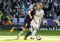 Real Madrid's Kaka (r) and FC Barcelona's Andres Iniesta during La Liga match.March 02,2013. (ALTERPHOTOS/Acero) /NortePhoto