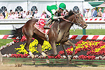 2011 05 20: Royal Delta with Jose Lezcano aboard wins the Grade 1 Black-Eyed Susan Stakes for 3 year olds fillies, at 1 1/8 mile, Pimlico Racetrack. Trainer William Mott. Owner Pallides Investments N.V., Inc.